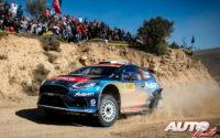 Gus Greensmith, al volante del Ford Fiesta R5 Mk2 WRC2, durante el Rally de España 2019, puntuable para el Campeonato del Mundo de Rallies WRC2.