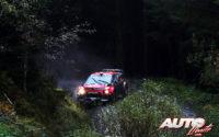 Sébastien Ogier, al volante del Citroën C3 WRC, durante el Rally de Gran Bretaña / Gales 2019, puntuable para el Campeonato del Mundo de Rallies WRC.