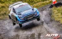 Teemu Suninen, al volante del Ford Fiesta WRC, durante el Rally de Gran Bretaña / Gales 2019, puntuable para el Campeonato del Mundo de Rallies WRC.
