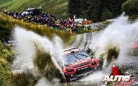 Esapekka Lappi, al volante del Citroën C3 WRC, durante el Rally de Gran Bretaña / Gales 2019, puntuable para el Campeonato del Mundo de Rallies WRC.