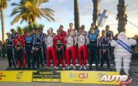 Reunión de pilotos y copilotos WRC durante el Rally de España 2019.