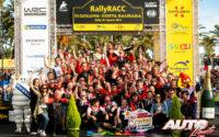 El equipo Toyota Gazoo Racing WRT celebraba el título de pilotos WRC de Ott Tänak (Toyota) en el podio del Rally de España 2019.