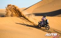 Santosh Chunchunguppe Shivashankar, a los mandos de su Hero 450 Rally, durante el Rally Dakar 2020.