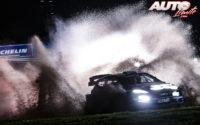 Elfyn Evans, al volante del Ford Fiesta WRC, durante el Rally de Gran Bretaña / Gales 2019, puntuable para el Campeonato del Mundo de Rallies WRC.