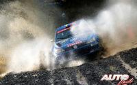 Ole Christian Veiby, al volante del Volkswagen Polo R5 WRC2, durante el Rally de Gran Bretaña / Gales 2019, puntuable para el Campeonato del Mundo de Rallies WRC 2.