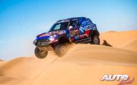 Jakub Przygonski, al volante del MINI John Cooper Works Rally 4x4, durante el Rally Dakar 2020.