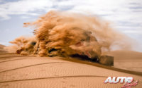 Cyril Despres, al volante del Overdrive OT3 SSV 4x2, durante el Rally Dakar 2020.