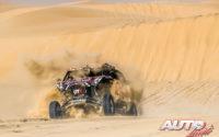 Blade Hildebrand, al volante del Overdrive OT3 SSV 4x2, durante el Rally Dakar 2020.