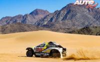 Manuel Plaza, al volante del Chevrolet BV2 Sodicars 4x2, durante el Rally Dakar 2020.