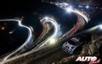 Gus Greensmith, al volante del Ford Fiesta WRC, durante el Rally de Montecarlo 2020, puntuable para el Campeonato del Mundo de Rallies WRC.