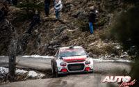 Eric Camilli, al volante del Citroën C3 R5 WRC3, durante el Rally de Montecarlo 2020, puntuable para el Campeonato del Mundo de Rallies WRC 3.