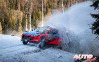 Nikolay Gryazin, al volante del Hyundai NG i20 R5 WRC2, durante el Rally de Suecia 2020, puntuable para el Campeonato del Mundo de Rallies WRC 2.