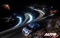 Miguel Díaz-Aboitiz, al volante del Skoda Fabia R5 WRC3, durante el Rally de Montecarlo 2020, puntuable para el Campeonato del Mundo de Rallies WRC 3.