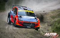Ole Christian Veiby, al volante del Hyundai NG i20 R5 WRC2, durante el Rally de Suecia 2020, puntuable para el Campeonato del Mundo de Rallies WRC 2.