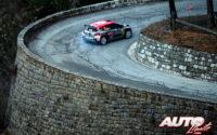 Mads Ostberg, al volante del Citroën C3 R5 WRC2, durante el Rally de Montecarlo 2020, puntuable para el Campeonato del Mundo de Rallies WRC 2.