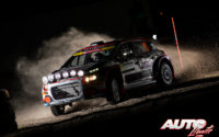 Mads Ostberg, al volante del Citroën C3 R5 WRC2, durante el Rally de Suecia 2020, puntuable para el Campeonato del Mundo de Rallies WRC 2.