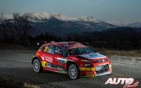 Pepe López, al volante del Citroën C3 R5 WRC3, durante el Rally de Montecarlo 2020, puntuable para el Campeonato del Mundo de Rallies WRC 3.