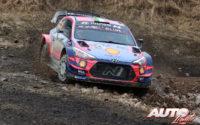 Craig Breen, al volante del Hyundai i20 Coupé WRC, durante el Rally de Suecia 2020, puntuable para el Campeonato del Mundo de Rallies WRC.