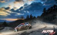 Kalle Rovanperä, al volante del Toyota Yaris WRC, durante el Rally de Montecarlo 2020, puntuable para el Campeonato del Mundo de Rallies WRC.