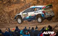 Teemu Suninen, al volante del Ford Fiesta WRC, durante el Rally de Suecia 2020, puntuable para el Campeonato del Mundo de Rallies WRC.