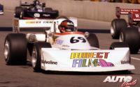 """Al volante de un Mach-Ford 77B, Gilles Villeneuve obtenía su segundo título consecutivo en la Fórmula Atlantic de 1977. En el circuito urbano de Trois-Rivières partía desde la """"pole position""""."""