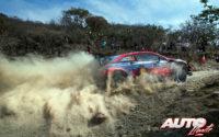 Dani Sordo, al volante del Hyundai i20 Coupé WRC, durante el Rally de México 2020, puntuable para el Campeonato del Mundo de Rallies WRC.