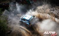 Esapekka Lappi, al volante del Ford Fiesta WRC, durante el Rally de México 2020, puntuable para el Campeonato del Mundo de Rallies WRC.