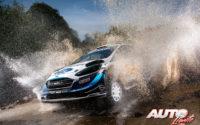 Teemu Suninen, al volante del Ford Fiesta WRC, durante el Rally de México 2020, puntuable para el Campeonato del Mundo de Rallies WRC.