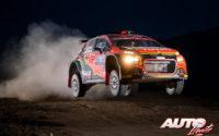 Marco Bulacia, al volante del Citroën C3 R5 WRC3, durante el Rally de México 2020, puntuable para el Campeonato del Mundo de Rallies WRC 3.