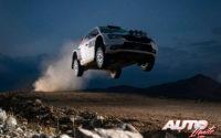Pontus Tidemand, al volante del Skoda Fabia R5 EVO WRC2, durante el Rally de México 2020, puntuable para el Campeonato del Mundo de Rallies WRC 2.