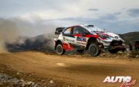 Kalle Rovanperä, al volante del Toyota Yaris WRC, durante el Rally de México 2020, puntuable para el Campeonato del Mundo de Rallies WRC.
