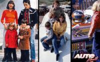 """Gilles Villeneuve se caso en el año 1970 con Joann Barthe y sus vidas transcurrieron en un permanente traslado, utilizando como hogar una """"roulotte"""" en la que nacieron sus dos hijos, Jacques y Melanie."""