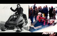 El primer contacto de Gilles Villeneuve con la velocidad fue a través de las motos de nieve, obteniendo el título de Campeón de Québec en 1973 y conquistando el título de Campeón del Mundo de motos de nieve al año siguiente.