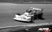 Gilles Villeneuve obtenía la victoria en el circuito de Mosport Park, al volante de un March-Ford 76B de la Fórmula Atlantic en 1976.