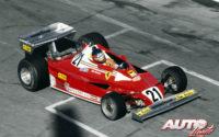 Al volante de un Ferrari 312 T2B, Gilles Villeneuve debutaba en el equipo Ferrari en el GP de Canadá de 1977, abandonando a escasas vueltas del final de carrera.