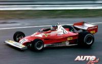 Al volante de un Ferrari 312 T2B, Gilles Villeneuve debutaba en el equipo Ferrari en el GP de Canadá de 1977, abandonando a escasas vueltas del final de carrera. Durante los entrenamientos pudo probar también su nuevo coche sobre asfalto mojado.
