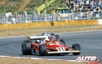 La segunda oportunidad de Gilles Villeneuve al volante del Ferrari 312 T2B llegaría en el circuito de Fuji, durante el GP de Japón de 1977.