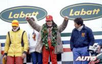 Gilles Villeneuve, al volante de un Ferrari 312 T3, obtenía su primera victoria de Fórmula 1 en el GP de Canadá de 1978, disputado en el circuito Isla de Notre Dame en Montreal, acompañado en el podio por Jody Scheckter (Wolf-Ford WR6) y Carlos Reutemann (Ferrari 312 T3).