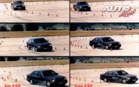 """Pruebas del """"ESP"""" en las pistas de desarrollo de Bosch en Schwieberdingen (Alemania) a lo largo de 1995."""