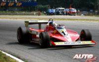 Gilles Villeneuve, al volante de su Ferrari 312 T3, durante uno de los Grandes Premios del Campeonato del Mundo de Fórmula 1 de 1978.