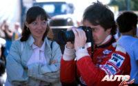 Gilles Villeneuve, junto a su esposa, Joann Barthe, durante uno de los Grandes Premios del Campeonato del Mundo de Fórmula 1 de 1978.
