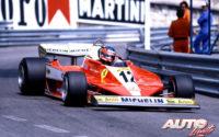 Gilles Villeneuve, al volante del Ferrari 312 T3, durante el GP de Mónaco de 1978, disputado en el circuito urbano de Montecarlo.