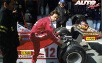 Gilles Villeneuve, junto a su Ferrari 312 T3, durante el GP de España de 1978, disputado en el circuito del Jarama.