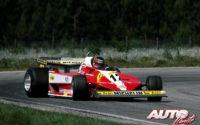 Gilles Villeneuve, al volante del Ferrari 312 T3, durante el GP de Suecia de 1978, disputado en el circuito de Anderstorp.