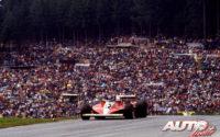 Gilles Villeneuve, al volante del Ferrari 312 T3, durante el GP de Austria de 1978, disputado en el circuito de Osterreichring.
