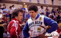 Gilles Villeneuve y Jody Scheckter fueron los pilotos oficiales de la Scuderia Ferrari durante el Campeonato del Mundo de Fórmula 1 de 1979. En el GP de EEUU del Oeste de 1979 obtenían las dos primeras posiciones al volante del Ferrari 312 T4.