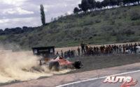 Gilles Villeneuve, al volante del Ferrari 312 T4, durante el GP de España de 1979, disputado en el circuito del Jarama.