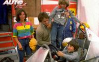 Gilles Villeneuve mantuvo siempre una relación muy directa con su familia, también durante los Grandes Premios. Aquí, en el GP de Canadá de 1979, junto a su mujer, Joann Barthe, su hija Melanie y el pequeño Jacques, que años después sería Campeón del Mundo de Fórmula 1 en 1997 con el equipo Williams.
