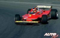 Gilles Villeneuve, al volante del Ferrari 312 T5 durante una de las carreras del Campeonato del Mundo de Fórmula 1 de 1980.