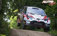 Sébastien Ogier, al volante del Toyota Yaris WRC, durante el Rally de Estonia 2020, puntuable para el Campeonato del Mundo de Rallies WRC.